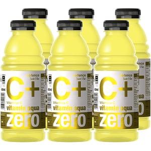 Apa cu vitamine C+ VITAMIN AQUA ZERO lemon&lime bax 0.6L x 6 sticle