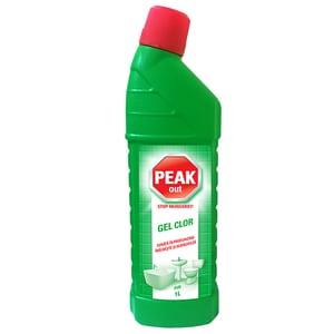 Dezinfectant PEAK OUT Gel Clor Pin, 1l