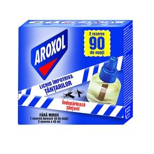 Set rezerve aparat electric anti-tantari AROXOL, 90 nopti, 2 x 35 ml