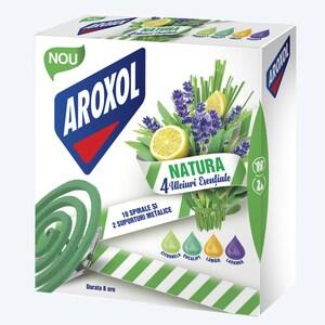 Spirale anti-tantari AROXOL Natura 4 uleiuri, 10 buc