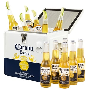 Bere blonda premium Corona Extra Cooler box 0.355L x 12 sticle