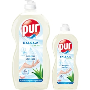 Detergent de vase PUR Balsam Aloe Vera, 1.35l + 450ml