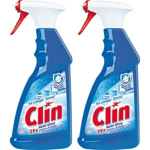 Solutie de curatat geamuri CLIN Multishine Pistol, 2 x 500ml