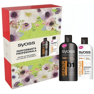 Set cadou SYOSS Repair: Sampon, 300ml + Balsam de par, 300ml