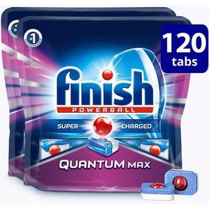 Detergent de vase pentru masina de spalat vase FINISH Quantum Max, 120 tablete