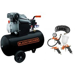 Compresor aer BLACK & DECKER BD 205/50+1, Electric, cu ulei, 50 litri, 2 CP, 8 Bar + 4 accesorii