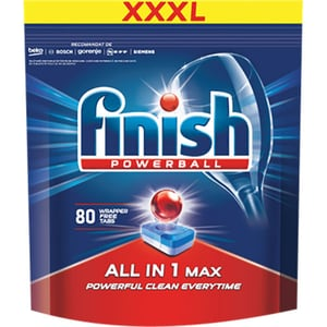 Detergent pentru masina de spalat vase FINISH All in 1 Max Regular, 80 tablete
