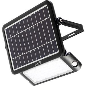 Proiector LED cu panou solar si senzor de miscare HOME FLP 1000 SOLAR, 10W, 1000 lumeni, negru