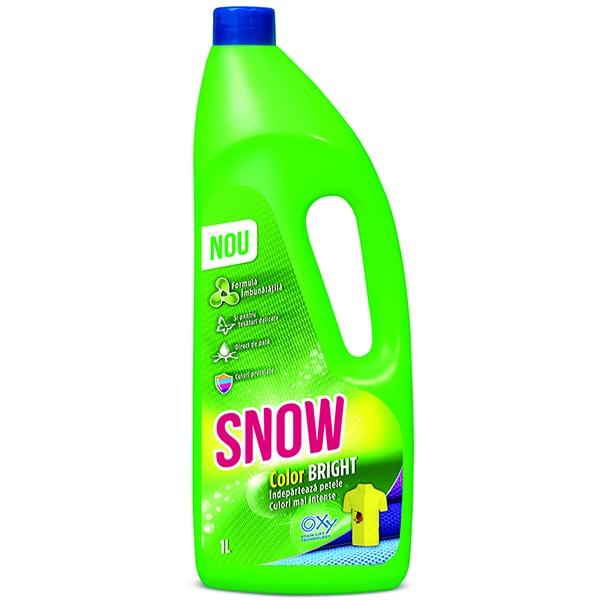 Solutie pentru indepartarea petelor SNOW Color Bright, 1l
