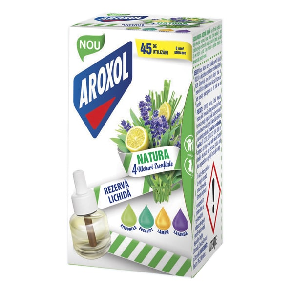 Rezerva aparat electric anti-tantari AROXOL Natura 4 uleiuri, 45 Utilizari