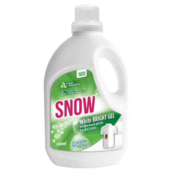 Solutie pentru indepartarea petelor SNOW White Bright Gel, 950ml