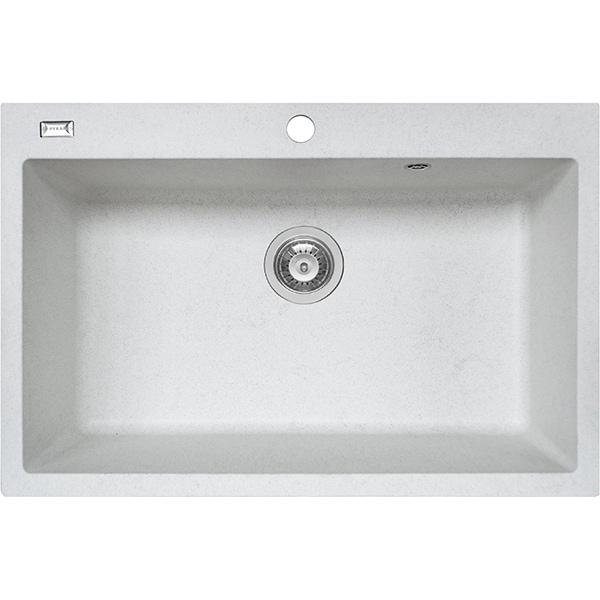 Chiuveta bucatarie PYRAMIS Square, 1 cuva, fibra de sticla, alb