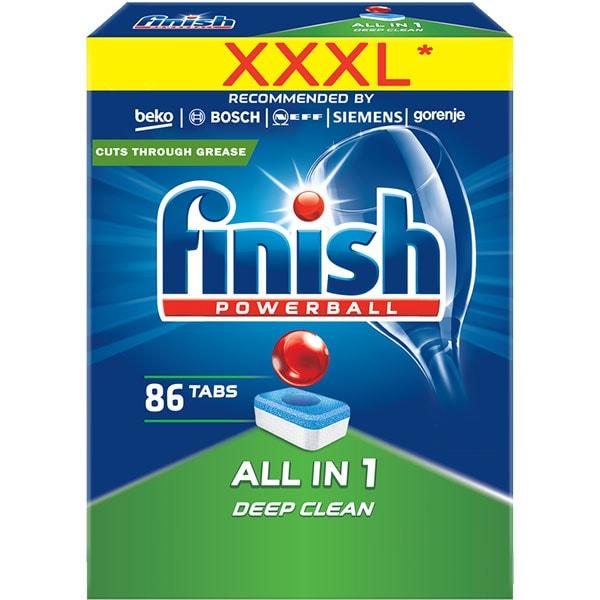 Detergent vase pentru masina de spalat vase FINISH All in One, 86 tablete