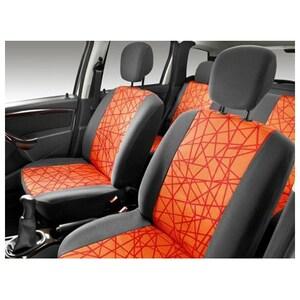 Set huse scaune DACIA Duster 6001998398, negru-portocaliu