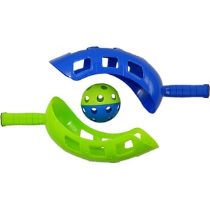 Joc Scoop Catch the Ball BEST SPORTING 64900, 2 palete, 1 minge, albastru-verde