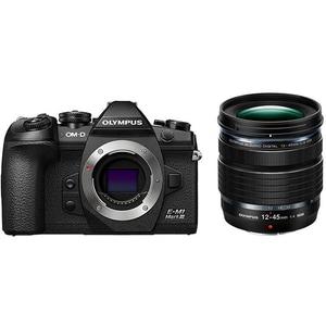 Aparat foto Mirrorless OLYMPUS E-M1 Mark II, 20.4 MP, 4K, Wi-Fi + Obiectiv M.Zuiko ED 12-45mm PRO kit