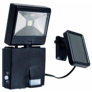 Proiector LED cu panou salar si senzor de miscare GAO 6916H, 1W, 96 lumeni, negru