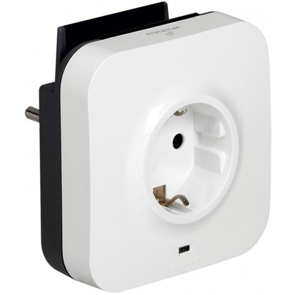 Priza LEGRAND 694671, 2xUSB, port telefon, cablu micro usb 1 m, alb-negru