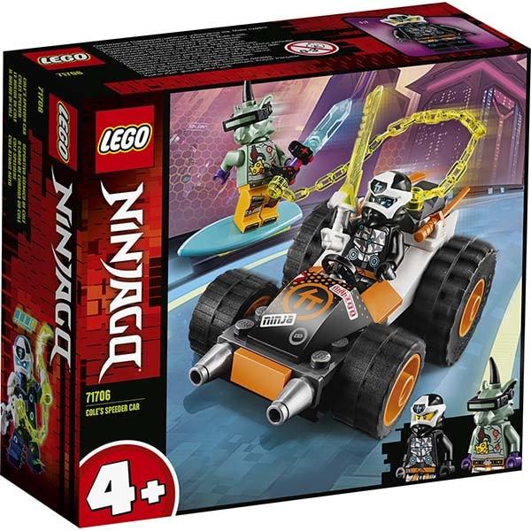 LEGO Ninjago: Masina de viteza a lui Cole 71706, 4 ani+, 52 piese