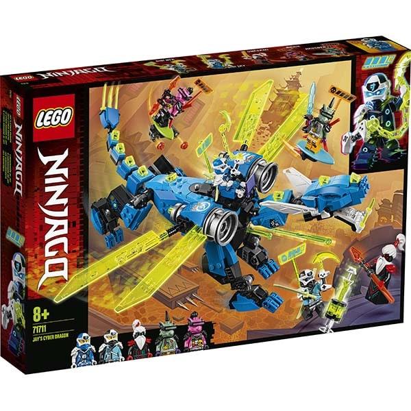 LEGO Ninjago: Dragonul cibernetic al lui Jay 71711, 8 ani+, 518 piese