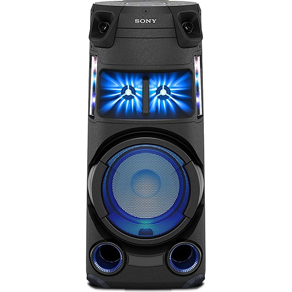 Sistem audio SONY MHC-V43D, Bluetooth, LDAC, Jet bass booster Mod fiesta, FM, Party music, negru