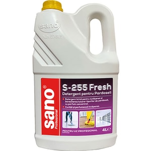 Solutie de curatare pardoseli SANO Professional S-255 Fresh, 4 l
