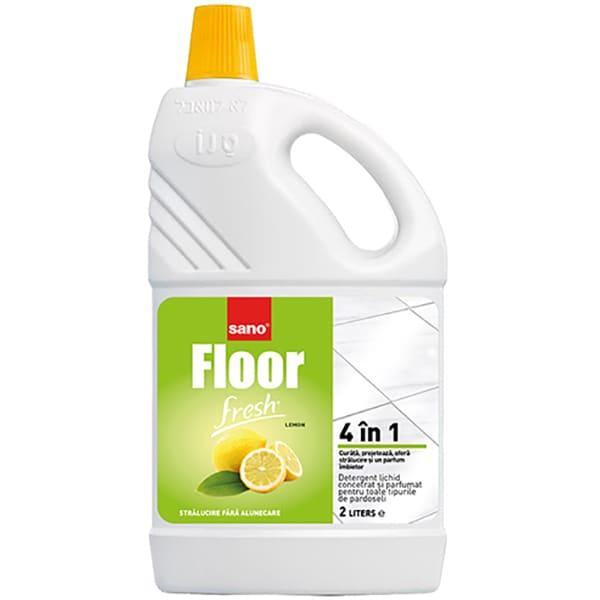 Detergent pentru pardoseli SANO Lemon, 2l