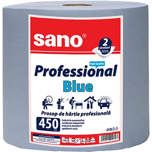 Prosoape de hartie SANO Professional Blue 450, 2 straturi, 1 rola