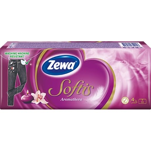 Servetele nazale ZEWA Softis Aromathera, 4 straturi, 10 x 9 buc