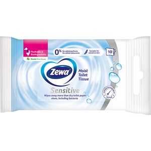 Hartie igienica umeda Zewa Sensitive, 10 bucati