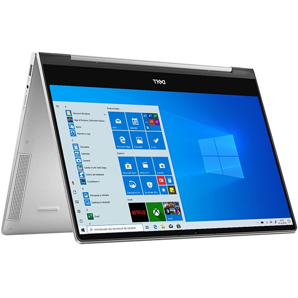Laptop 2 in 1 DELL Inspiron 7391, Intel Core i7-10510U pana la 4.9GHz, 13.3 Full HD, 16GB, SSD 512GB, Intel UHD Graphics, Windows 10 Home, argintiu