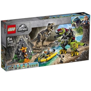 LEGO Jurassic World: Lupta T. rex contra Dino-Mech 75938, 8 ani+, 716 piese