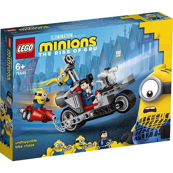 LEGO Minions: Urmarire cu motocicleta 75549, 6 ani+, 136 piese