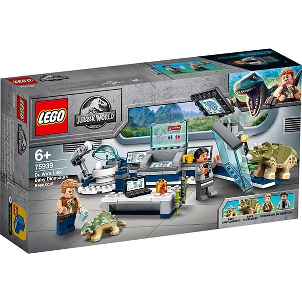 LEGO Jurassic World: Laboratorul Dr. Wu - Evadarea puilor de dinozaur 75939, 6 ani+, 164 piese