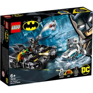 LEGO Super Heroes: Mr. Freeze in batalia pe batcycle 76118, 6 ani+, 200 piese