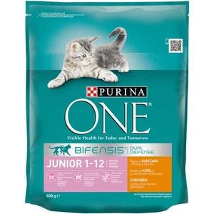 Hrana uscata pentru pisici PURINA ONE Junior, Pui si cereale, 800 g