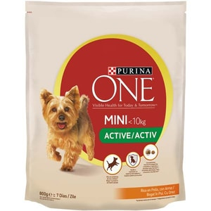Hrana uscata pentru caini PURINA ONE MINI Activ, Pui si Orez, 800 g