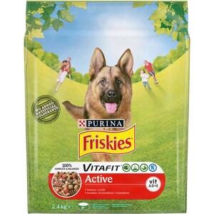 Hrana uscata pentru caini FRISKIES Vitafit Active, Vita, 2.4 kg