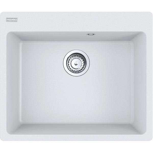 Chiuveta bucatarie FRANKE CNG 610/210-54, 1 cuva, fara picurator, compozit granit, alb