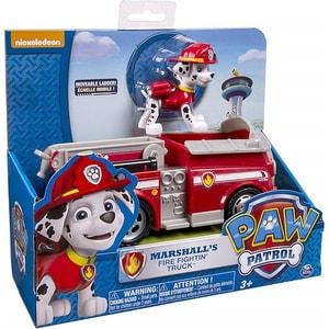 Masina PAW PATROL Masina pompierului Marshall 6026052, 3 ani+, rosu-alb