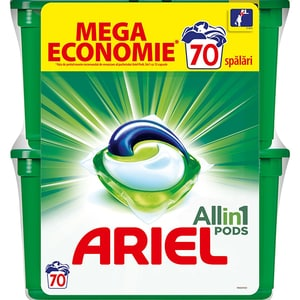 Detergent capsule ARIEL All in One PODS Mountain Spring, 70 spalari