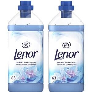 Pachet balsam de rufe LENOR Spring, 2 x 1.9l, 126 spalari
