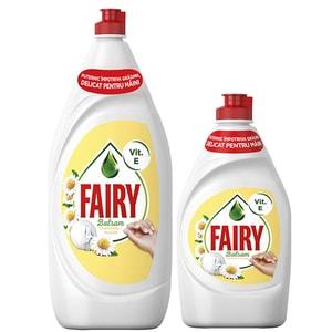 Pachet Promo Detergent de vase FAIRY Sensitive Chamomile, 1.3 l + 450 ml
