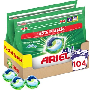 Detergent caps ARIEL All in One Pods Mountain Spring, 104 spalari