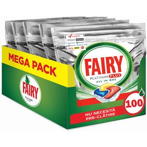 Detergent pentru masina de spalat vase FAIRY Platinum Plus, 100 capsule
