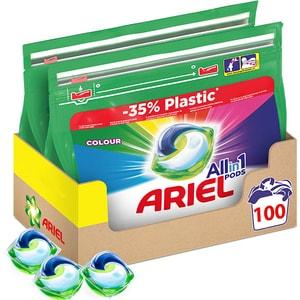 Detergent capsule ARIEL All in One Pods Color, 100 spalari