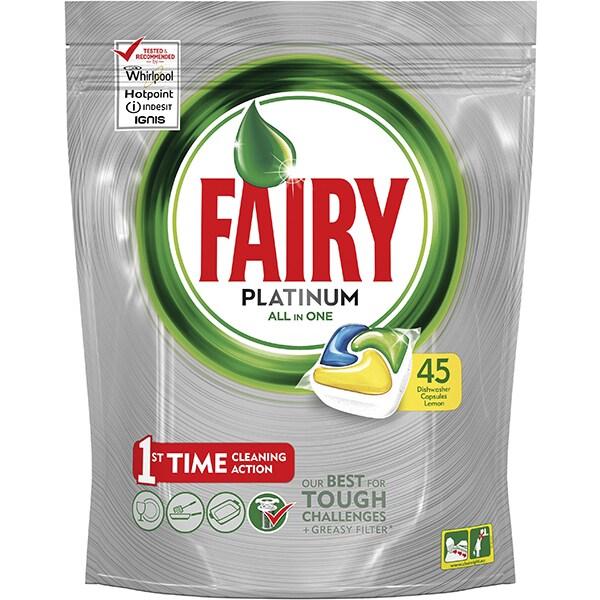 Detergent pentru masina de spalat vase FAIRY Platinum All in One, 45 capsule
