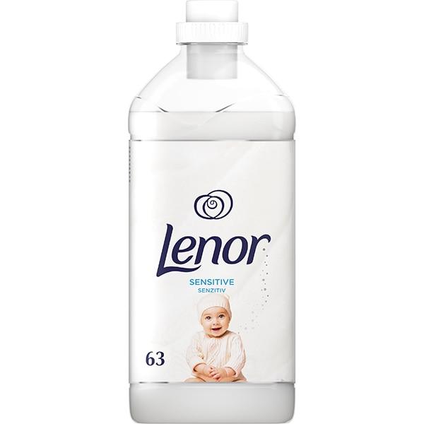 Balsam de rufe LENOR Sensitive, 1.9l, 63 spalari