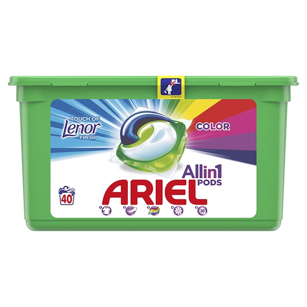 Detergent capsule ARIEL All in One PODS Touch of LENOR, 40 spalari