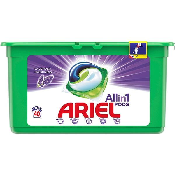 Detergent capsule ARIEL All in One PODS Lavanda, 40 spalari